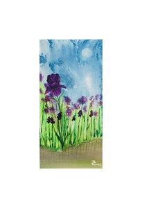 Acrylic Painting, Flower Paintings, Nature, Acrylic on Canvas, Original, Wall Art, Paintings, Iris Painting