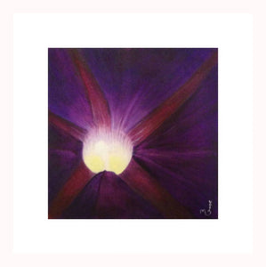 """Vision"" Original Acrylic Painting on Canvas 12X12 Morning Glory"