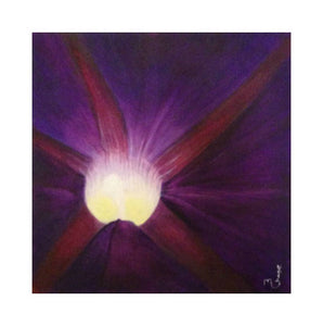 "Acrylic Painting Bright Purple Flower on Canvas Original Wall Art ""Vision"""