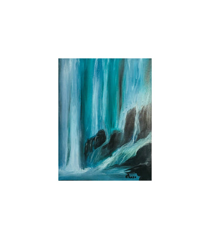 Oil Painting, Nature, Waterfall Painting, Landscape Painting, Wall Decor, Oil on Canvas, Paintings