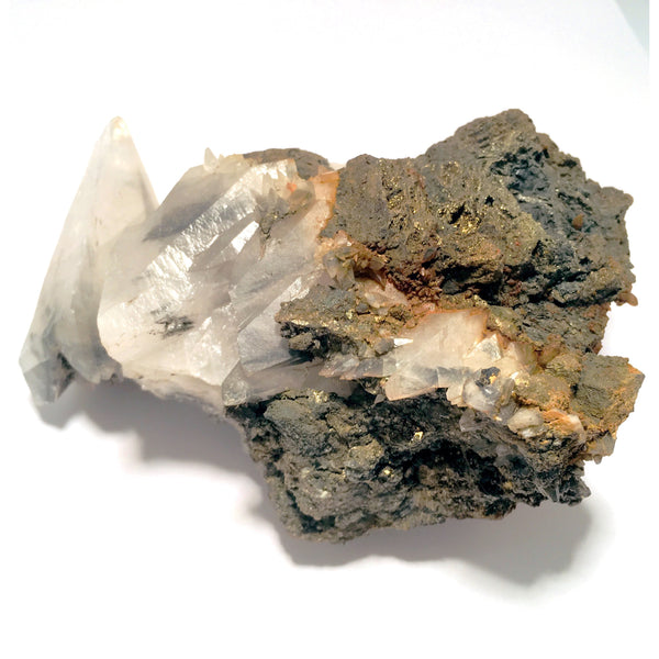 Calcite Crystal Pyrite on Matrix
