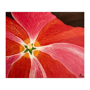 """Hollyhock"" 16x20 Original Acrylic Painting on Canvas - Original ON DISPLAY"