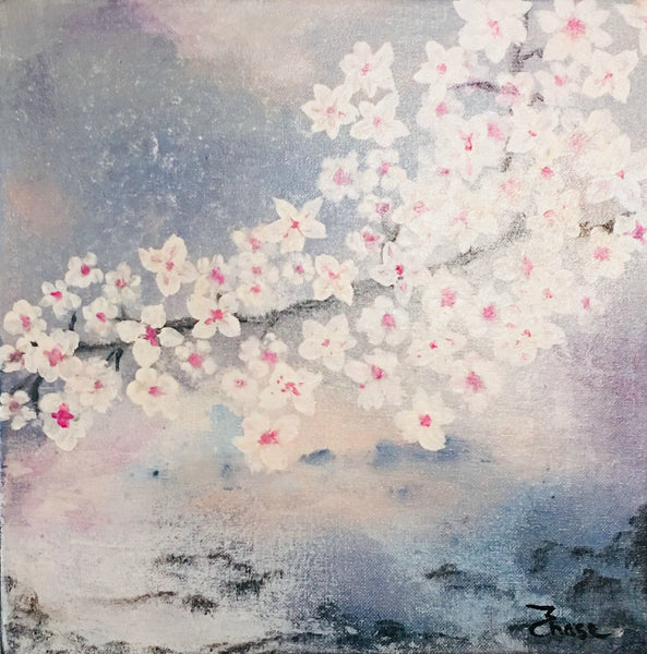 "Acrylic Flower Painting on Canvas, Original Wall Art Flowering Tree ""Possibilities"""