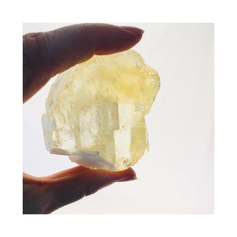 Yellow Champagne Calcite Crystal
