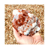 Banded Calcite Crystal Red