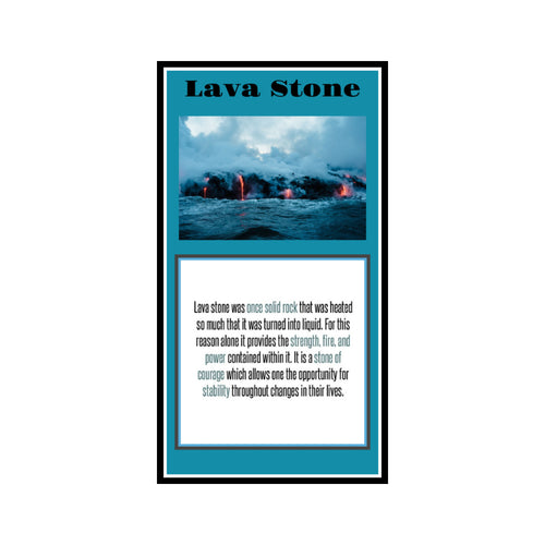Lava Stone Crystal Meaning Card