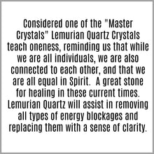 Lemurian Quartz Crystal Meaning Card