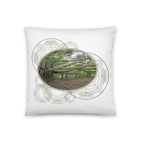 Ancient Tree Roots - Throw Pillow