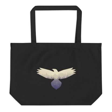 Hawk Spirit Animal Large organic tote bag