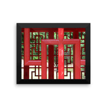 Zen Garden  - Pagoda Window 116 - Framed Photo Print Poster
