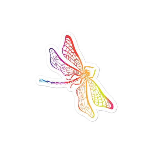 Dragonfly Rainbow Sticker Bubble-free stickers