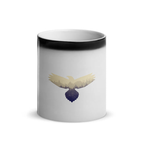 Hawk Spirit Animal Glossy Magic Mug