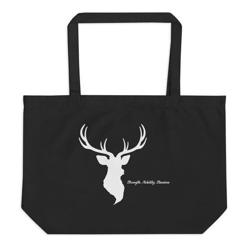 Elk Spirit Animal Large organic tote bag