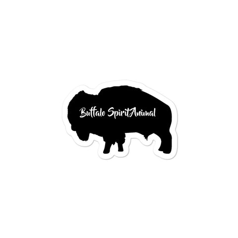Buffalo Spirit Animal Bubble-free stickers