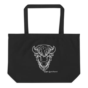 Buffalo Spirit Animal Large Organic Tote Bag