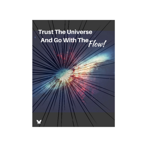 Trust the Universe and Go with the Flow Digital Download Workbook Journal