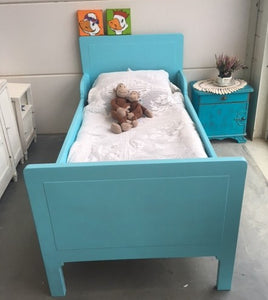 Brocante Kinderbed Blauw Shabby Chic