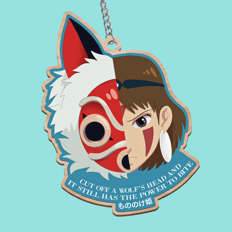 Princess Mononoke Wooden Charm