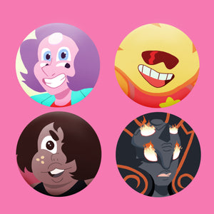 Steven + Crystal Gem Fusions Badges