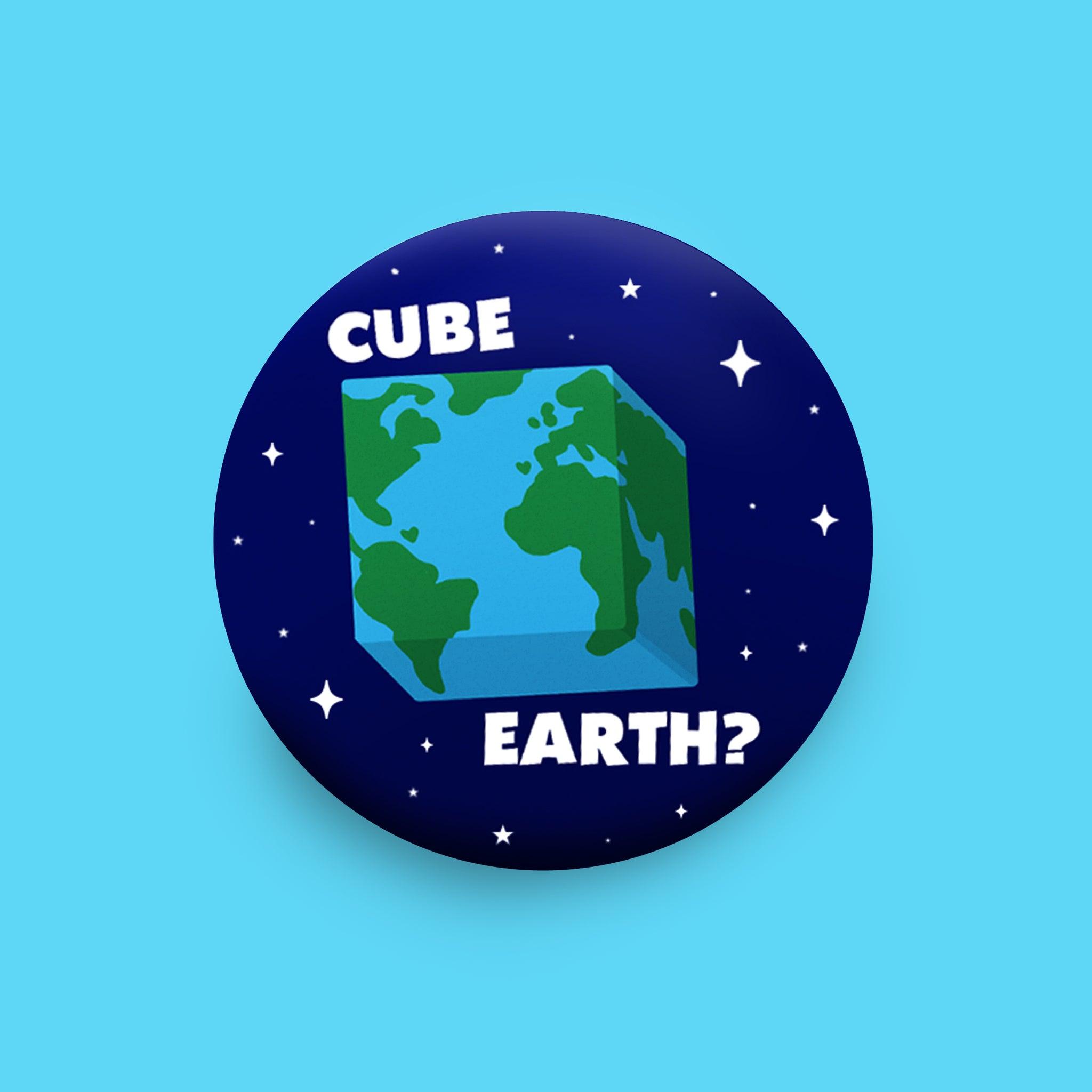 Cube Earth ?! Badge