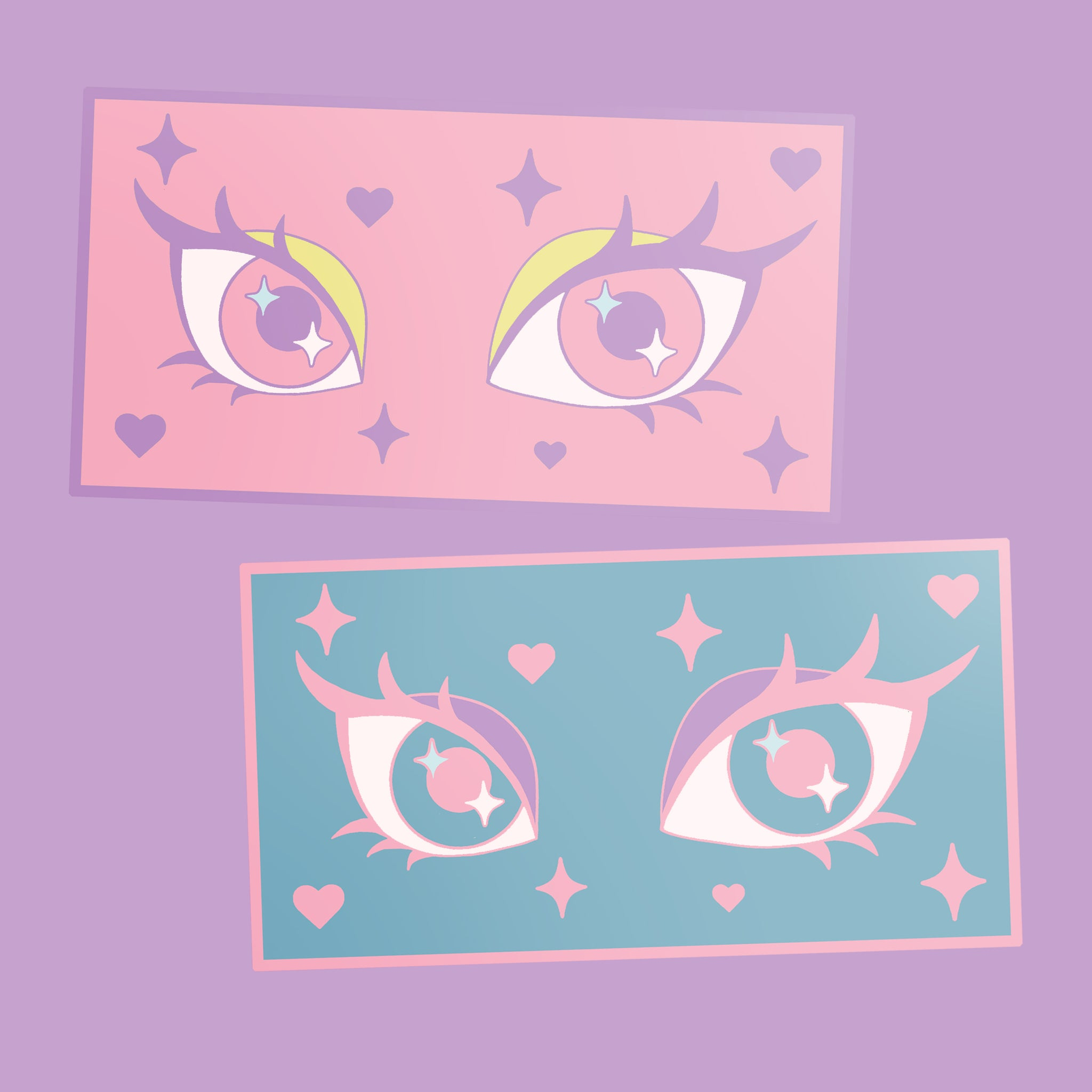 Fiercely Kawaii Eyes Stickers