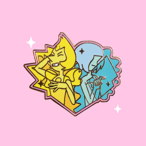 Blue + Yellow Pearl Pin