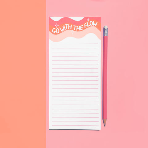 Go with the flow Notepad / List pad