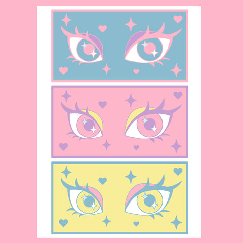 Fiercely Kawaii Eye Print