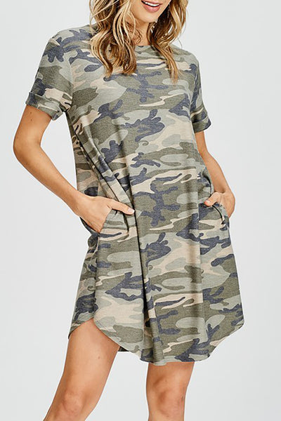 Camouflage Terry Dress