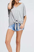 V-Neck Front Tie Top