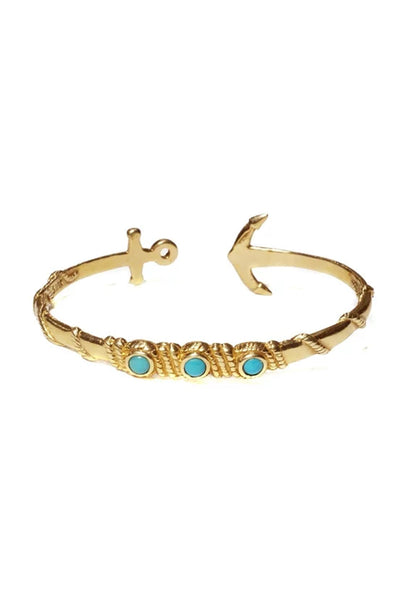 Anchor Turquoise Cuff