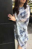 Printed One-shoulder Caftan Dress