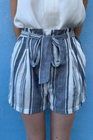 Striped Printed Shorts