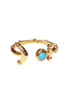 Anchor Turquoise Cuff Ring