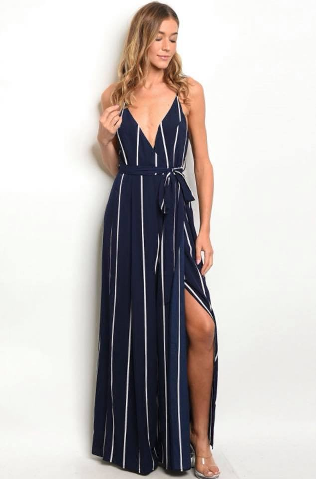 Ashley's Stripe Jumpsuit