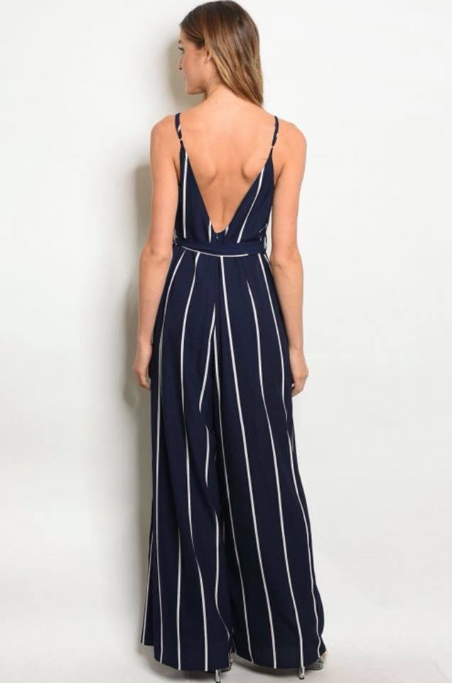 Ashley's Stripe Jumpsuit - The Divaz Closet