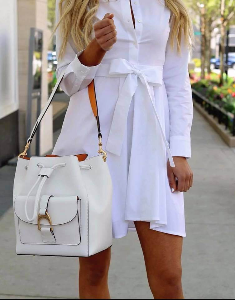 Chrissy's White Goddess Dress