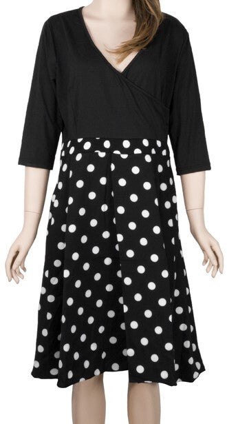 Classic Black and White Polka Dot dress - The Divaz Closet