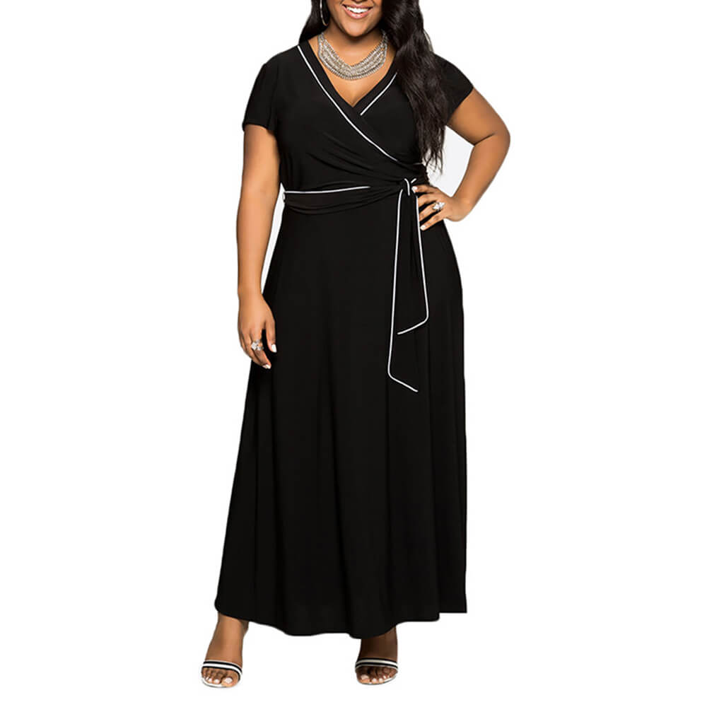 Sassy Black Maxi Dress - The Divaz Closet