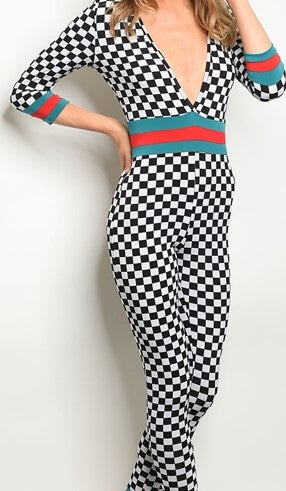 Check Her Out Jumpsuit - The Divaz Closet