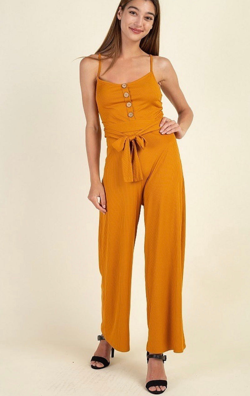 Kelly's Mustard Jumpsuit - The Divaz Closet
