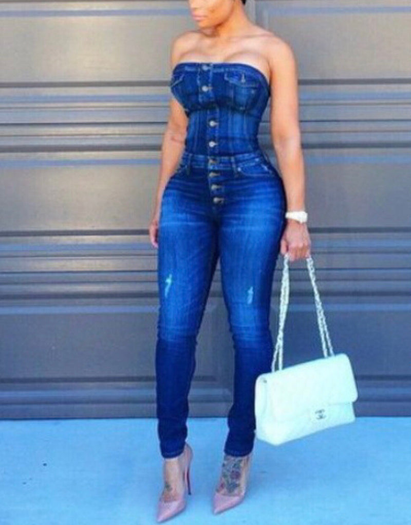 Denim Boss Chick Jumpsuit