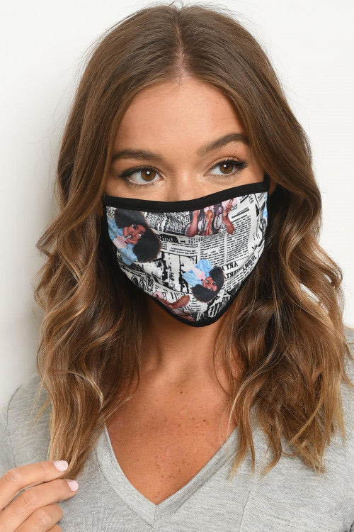 Newspaper Print Mask