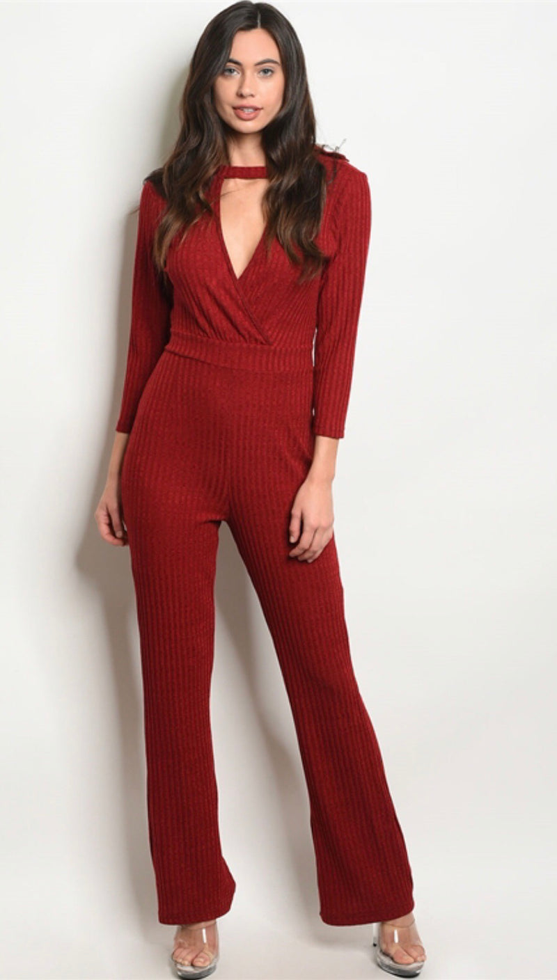Fire Red Jumpsuit