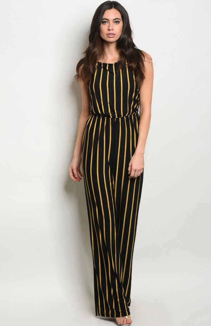 Black Mustard Jumpsuit - The Divaz Closet