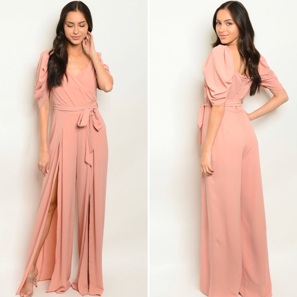 Blush Me Jumpsuit - The Divaz Closet