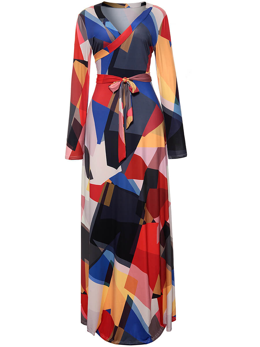 Autumn Half Sleeve  Maxi Dress