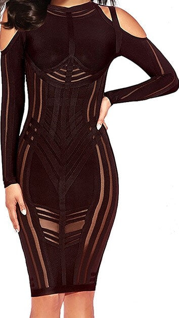 Divaz Wine Bandage Dress