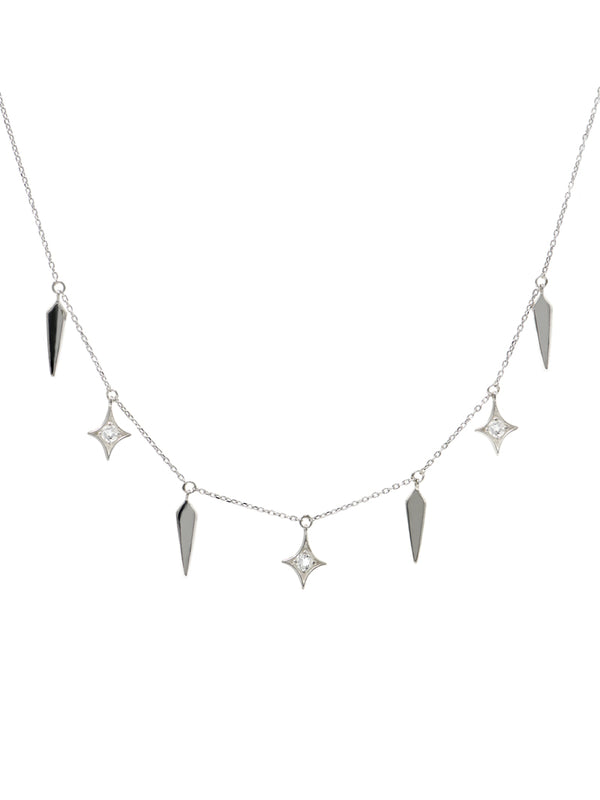Dagger Gothic Diamond Necklace