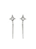 Gothic Diamond Chain Earrings